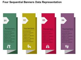 Fe Four Sequential Banners Data Representation Flat Powerpoint Design