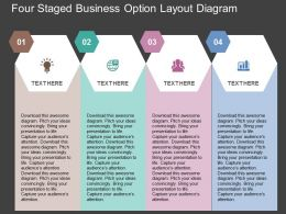 fe Four Staged Business Option Layout Diagram Flat Powerpoint Design