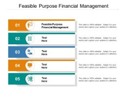 Feasible Purpose Financial Management Ppt Powerpoint Gallery Ideas Cpb