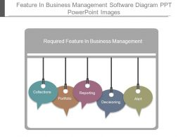 Feature In Business Management Software Diagram Ppt Powerpoint Images