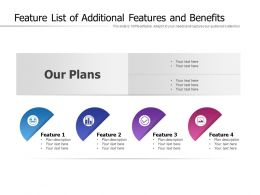 Feature List Of Additional Features And Benefits