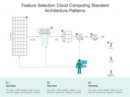 Feature Selection Cloud Computing Standard Architecture Patterns Ppt Powerpoint Slide