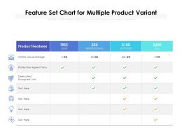Feature Set Chart For Multiple Product Variant