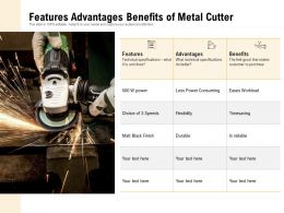 Features Advantages Benefits Of Metal Cutter