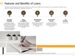 Features And Benefits Of Loans Certain Ppt Powerpoint Presentation Outline Example