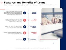 Features And Benefits Of Loans Financial Ppt Powerpoint Presentation File Design Inspiration