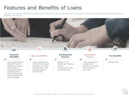 Features And Benefits Of Loans Ppt Powerpoint Presentation Gallery Graphics