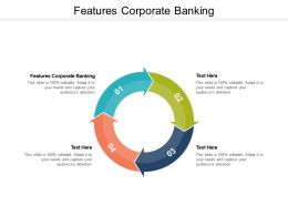 Features Corporate Banking Ppt Powerpoint Presentation Ideas Brochure Cpb