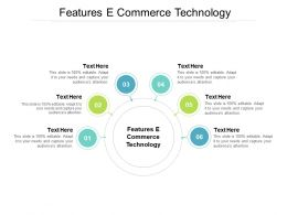 Features E Commerce Technology Ppt Powerpoint Presentation Ideas Information Cpb