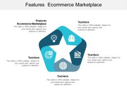 Features Ecommerce Marketplace Ppt Powerpoint Presentation Portfolio Inspiration Cpb