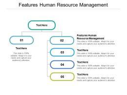 Features Human Resource Management Ppt Powerpoint Presentation Slides Ideas Cpb