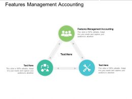Features Management Accounting Ppt Powerpoint Presentation Gallery Background Cpb