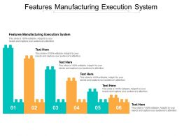Features Manufacturing Execution System Ppt Powerpoint Ideas Brochure Cpb