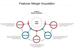 Features Merger Acquisition Ppt Powerpoint Presentation File Master Slide Cpb