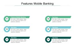 Features Mobile Banking Ppt Powerpoint Presentation Infographic Template Cpb