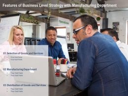 Features Of Business Level Strategy With Manufacturing Department