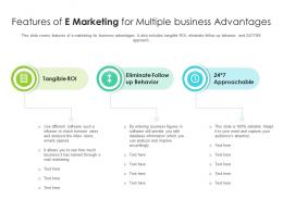 Features Of E Marketing For Multiple Business Advantages