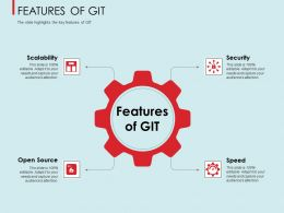 Features Of Git Speed Ppt Powerpoint Presentation Gallery Slideshow