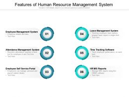 Features Of Human Resource Management System
