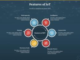 Features Of IoT Internet Of Things IOT Ppt Powerpoint Presentation Styles Microsoft