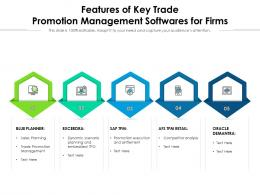 Features Of Key Trade Promotion Management Softwares For Firms