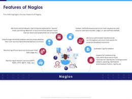 Features Of Nagios Service Checks Powerpoint Presentation Outfit