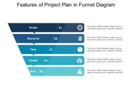 Features Of Project Plan In Funnel Diagram