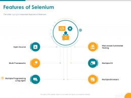 Features Of Selenium Multiple Os Powerpoint Presentation Graphics Tutorials
