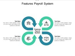 Features Payroll System Ppt Powerpoint Presentation Outline Themes Cpb