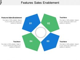 Features Sales Enablement Ppt Powerpoint Presentation Slides Themes Cpb