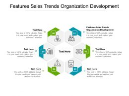 Features Sales Trends Organization Development Ppt Powerpoint Presentation Model Background Image Cpb