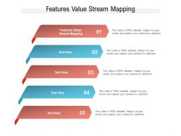 Features Value Stream Mapping Ppt Powerpoint Presentation File Professional Cpb