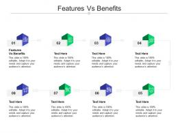 Features Vs Benefits Ppt Powerpoint Presentation Outline Elements Cpb