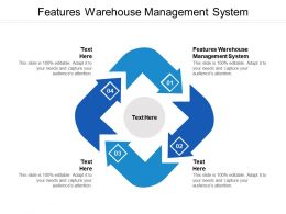 Features Warehouse Management System Ppt Powerpoint Presentation Icon Example Introduction Cpb