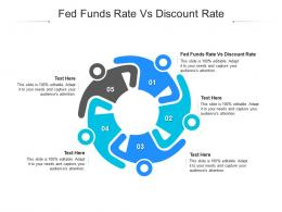 Fed Funds Rate Vs Discount Rate Ppt Powerpoint Presentation Icon Influencers Cpb