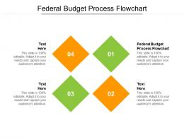 Federal Budget Process Flowchart Ppt Powerpoint Presentation Infographics Vector Cpb