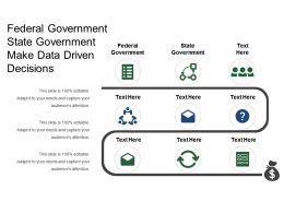 Federal Government State Government Make Data Driven Decisions