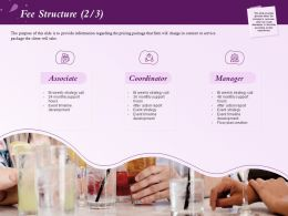 Fee Structure Action Report Ppt Powerpoint Presentation Example Topics