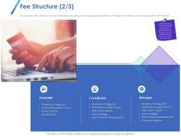 Fee Structure Associate Ppt Powerpoint Presentation Summary Design