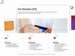 Fee Structure Development Stage Shows Management Firm Ppt Background