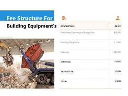 Fee Structure For Building Equipments Ppt Powerpoint Presentation File Icon