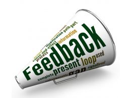 Feed Back Text On Megaphone Stock Photo