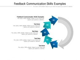 Feedback Communication Skills Examples Ppt Powerpoint Presentation Model Cpb