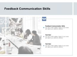 Feedback Communication Skills Ppt Powerpoint Presentation Gallery Objects Cpb