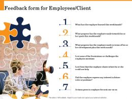 Feedback Form For Employees Client Future Interest Ppt Powerpoint Presentation Templates