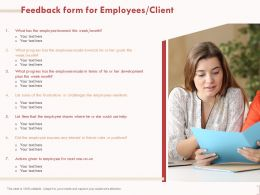 Feedback Form For Employees Client Mentions Ppt Powerpoint Presentation Example