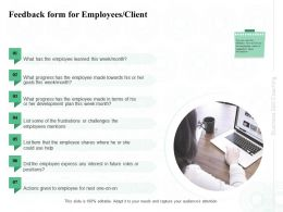 Feedback Form For Employees Client Week Month Ppt Powerpoint Presentation Portfolio Icon