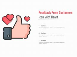 Feedback From Customers Icon With Heart