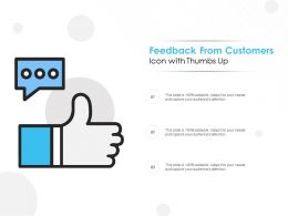 Feedback From Customers Icon With Thumbs Up