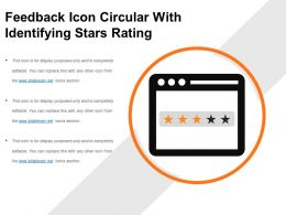 Feedback Icon Circular With Identifying Stars Rating